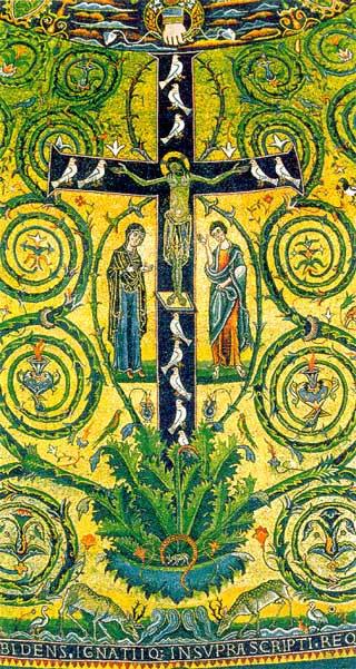"""Basílica de san Clemente, Roma (Italia). """"Mosaico del ábside"""" (s ..."""