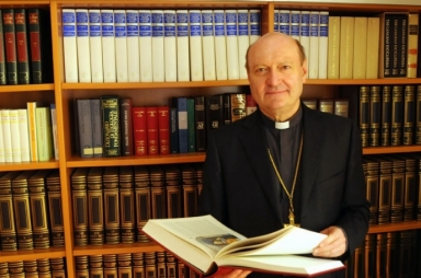El Card. Ravasi en la sede del Pontifico Consejo para la Cultura