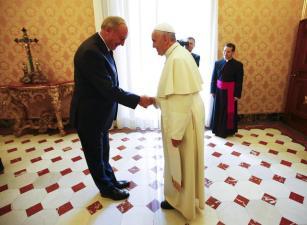 Pope Francis meets Latvian President Andris Berzins