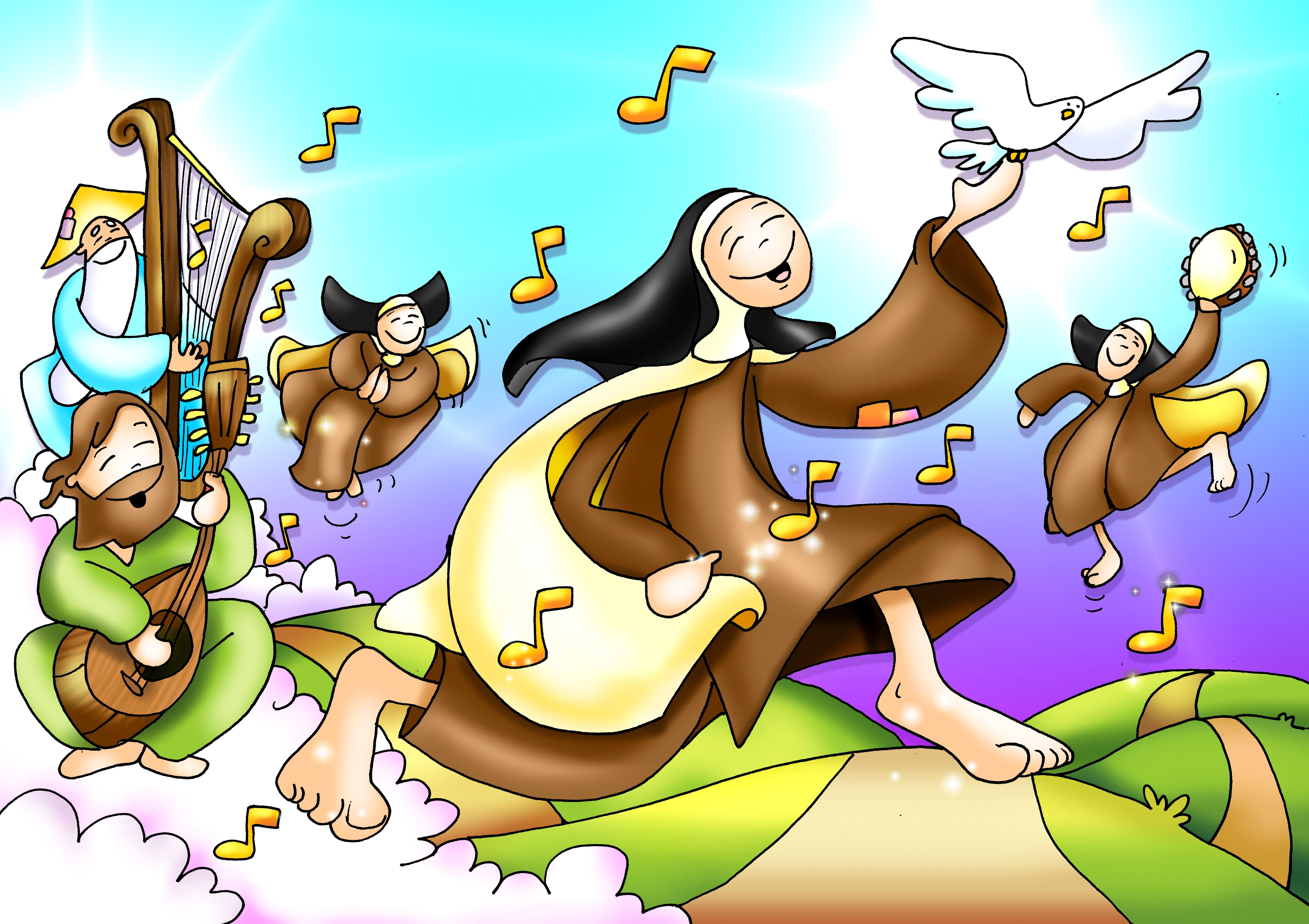 Que Palabra Expresa La Alegria De La Pascua Teresa Alegria Trinitaria Color