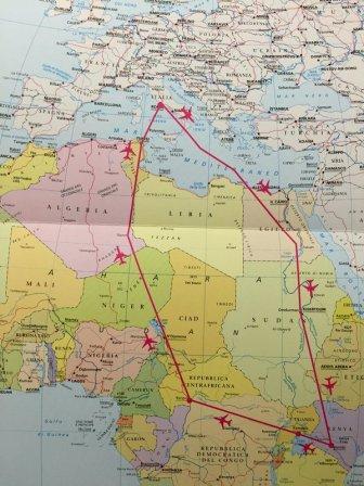 mapa_viaje_francisco_africa