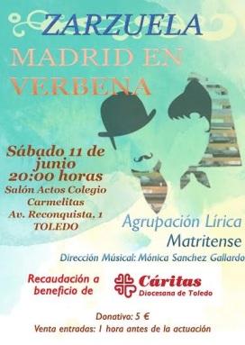 cartel caritas toledo zarzuela