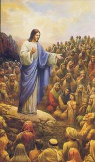 cristo jesus predica ovejas